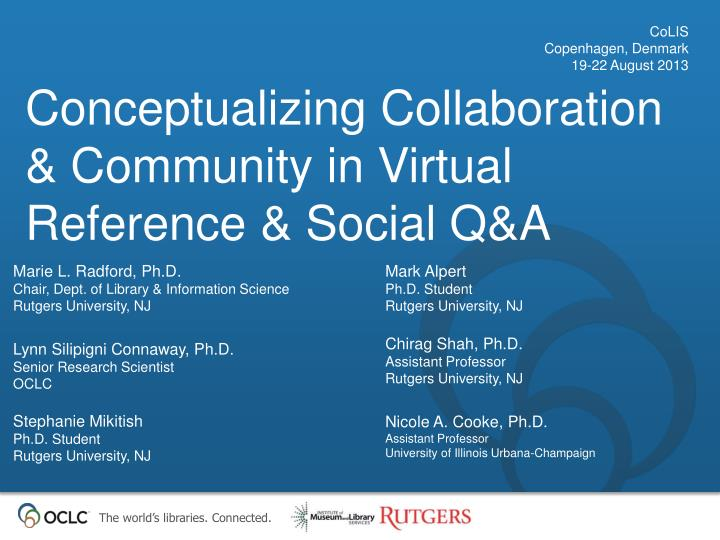 Conceptualizing collaboration community in virtual reference social q a