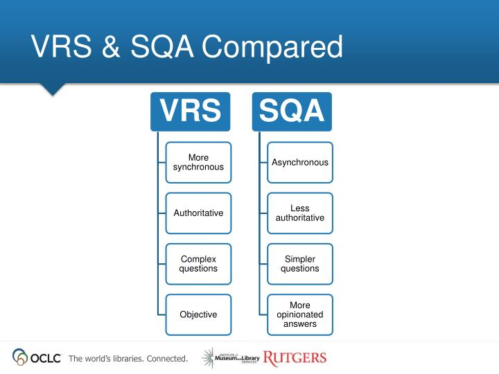 VRS & SQA Compared