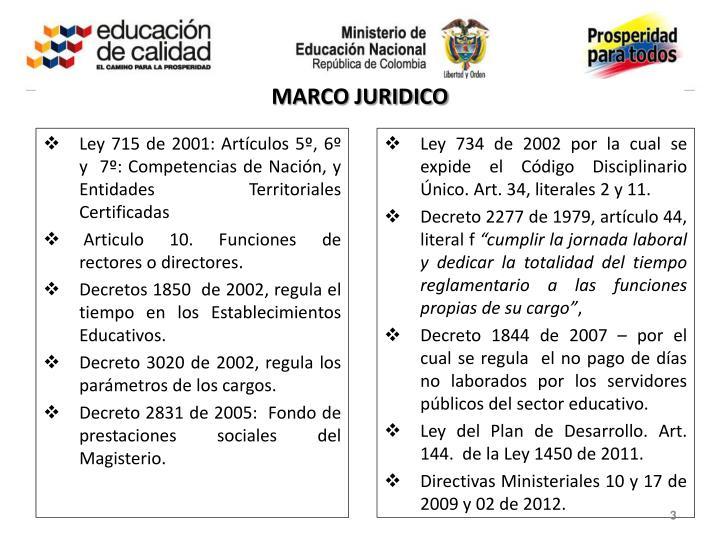 MARCO JURIDICO