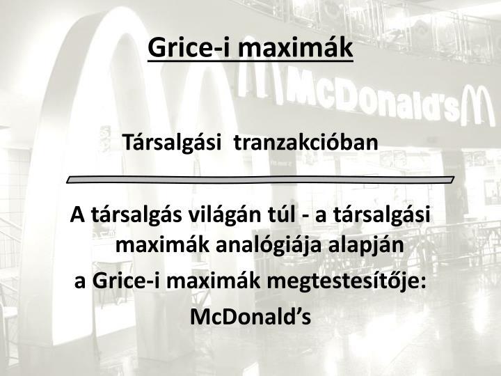 Grice-i maximák