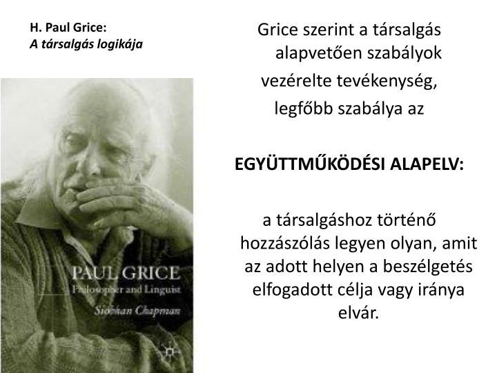 H. Paul Grice: