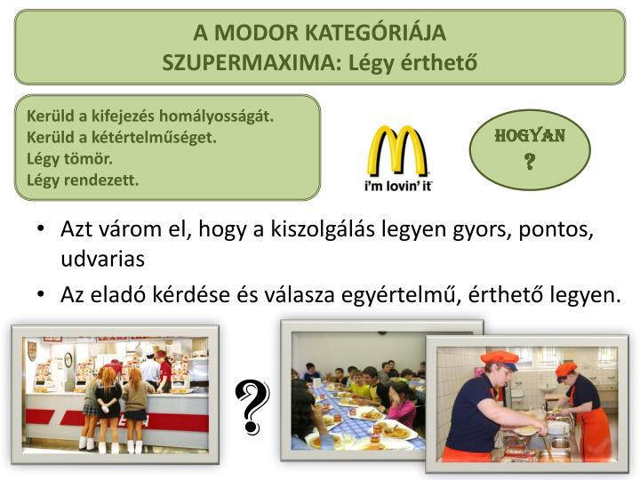 A MODOR KATEGÓRIÁJA