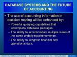 database systems and the future of accounting1