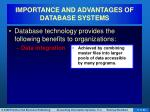 importance and advantages of database systems2