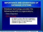 importance and advantages of database systems3