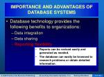 importance and advantages of database systems4