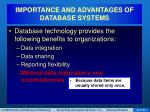 importance and advantages of database systems5