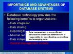importance and advantages of database systems7