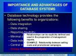 importance and advantages of database systems8