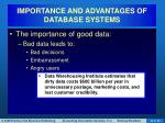importance and advantages of database systems9
