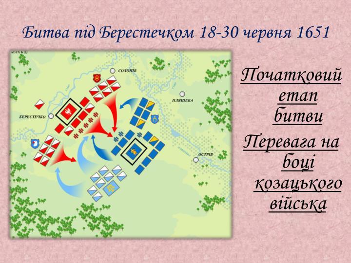 Битва під Берестечком 18-30 червня 1651