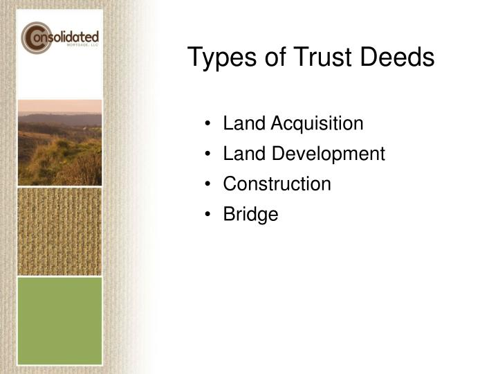 Types of Trust Deeds
