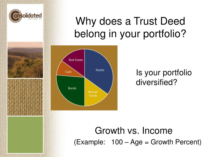 Why does a Trust Deed belong in your portfolio?