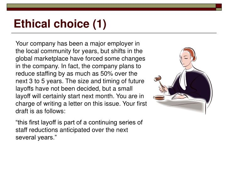 Ethical choice (1)