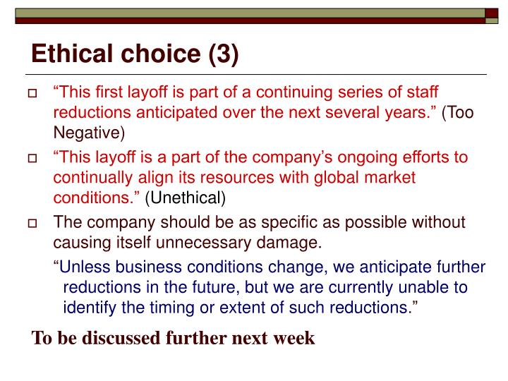Ethical choice (3)