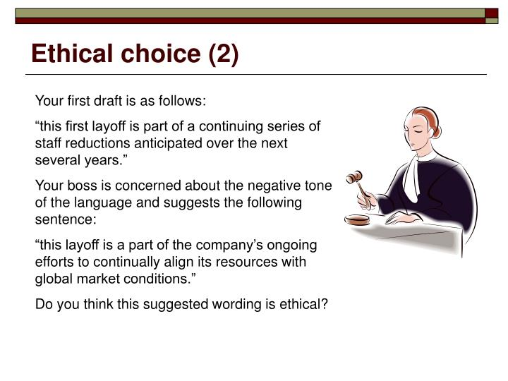Ethical choice (2)