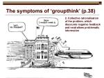 the symptoms of groupthink p 38