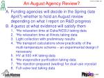 an august agency review1