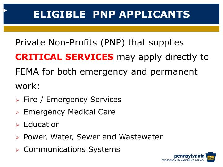 ELIGIBLE  PNP APPLICANTS