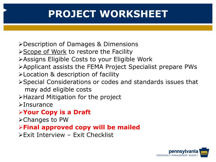 PROJECT WORKSHEET