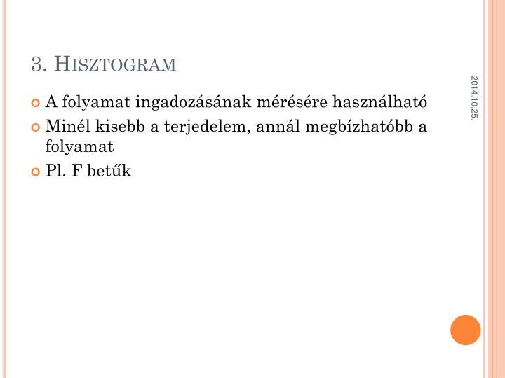 3. Hisztogram