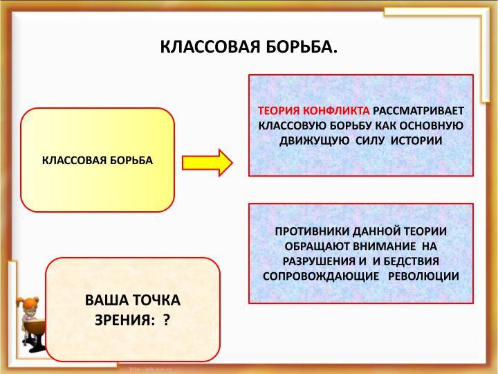 КЛАССОВАЯ БОРЬБА.