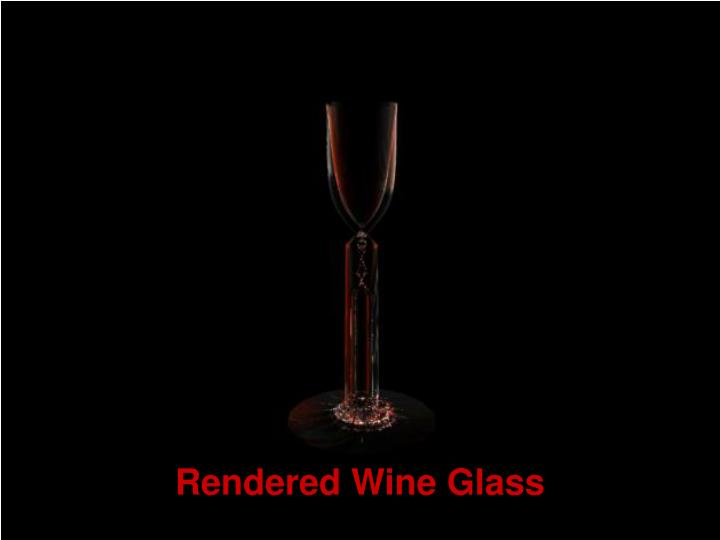 Rendered Wine Glass