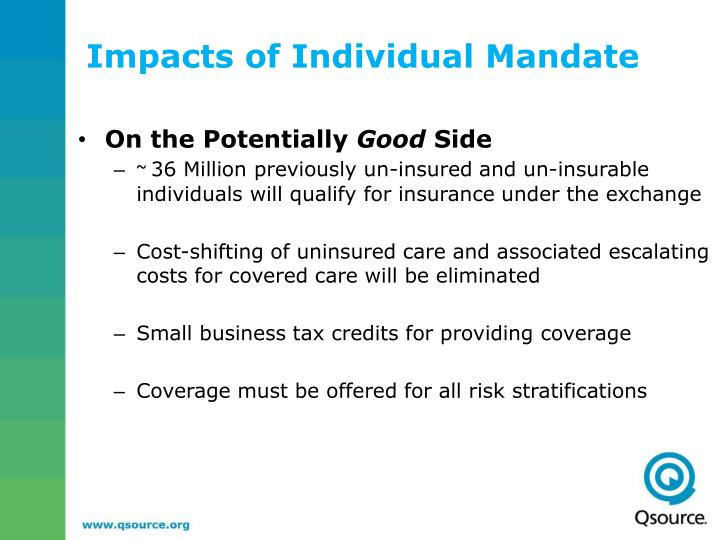 Impacts of Individual Mandate