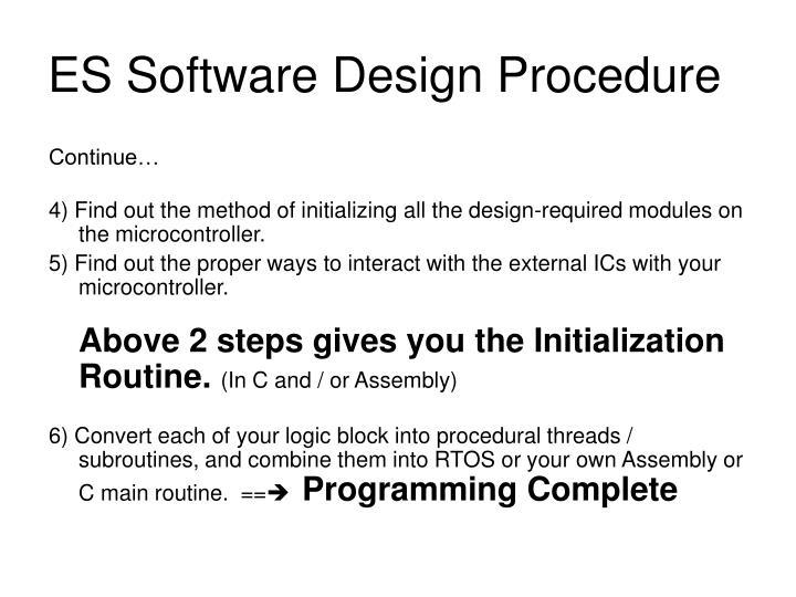 ES Software Design Procedure