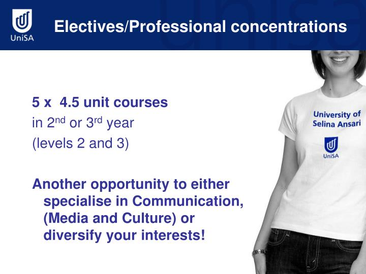 Electives/Professional concentrations