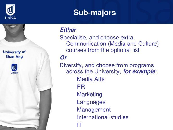Sub-majors