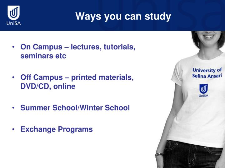 Ways you can study
