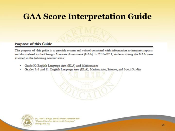 GAA Score Interpretation Guide