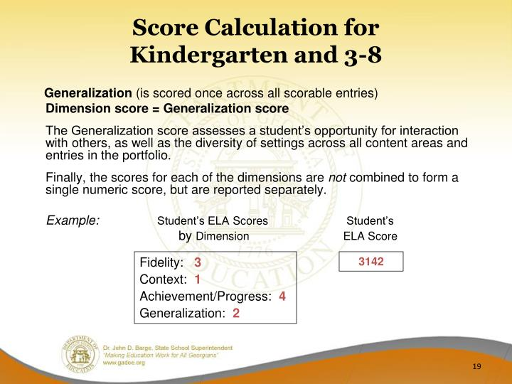 Score Calculation for