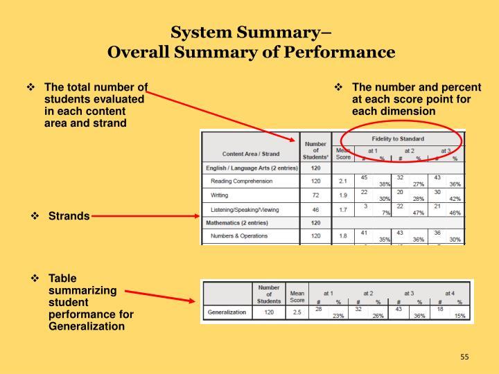 System Summary–