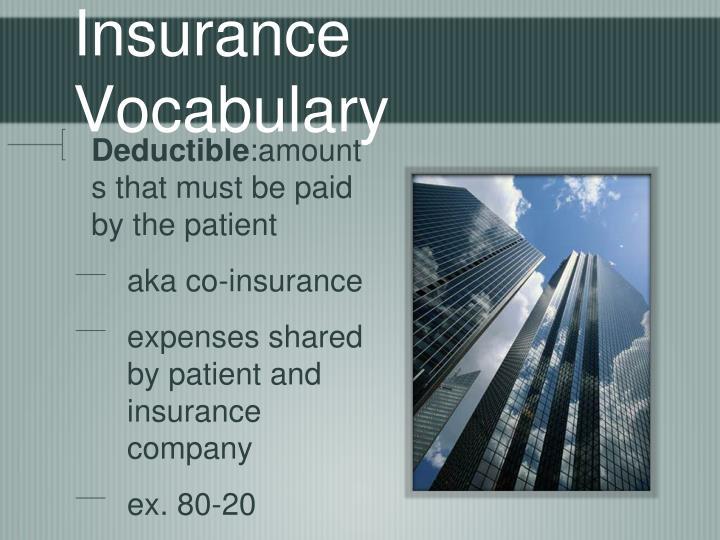 Insurance Vocabulary