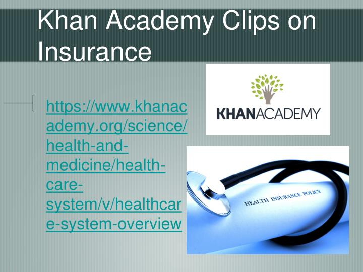 Khan Academy Clips on Insurance