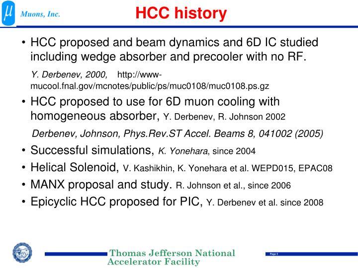 HCC history