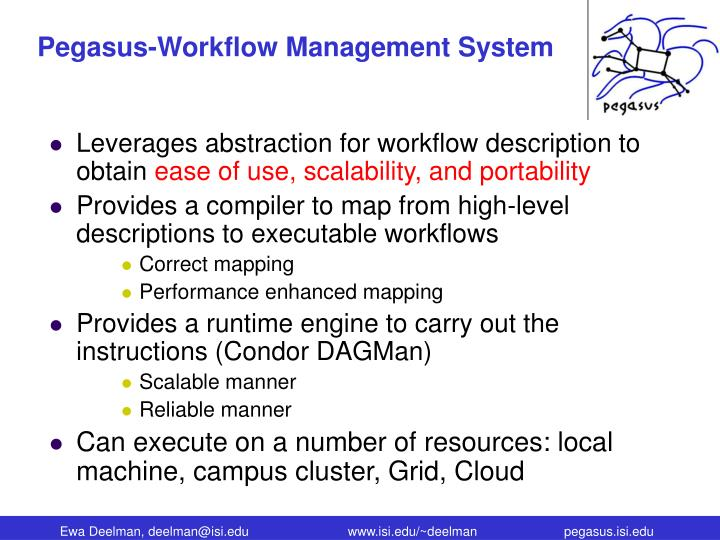 Pegasus-Workflow Management System