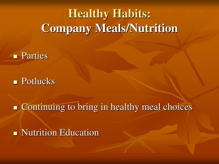 Healthy Habits: