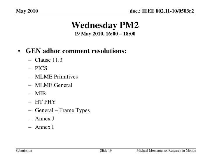 Wednesday PM2