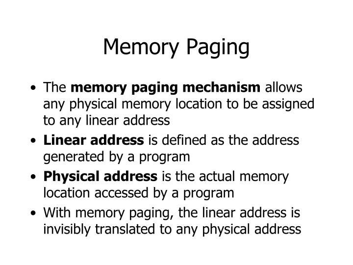 Memory Paging