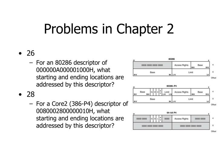 Problems in Chapter 2