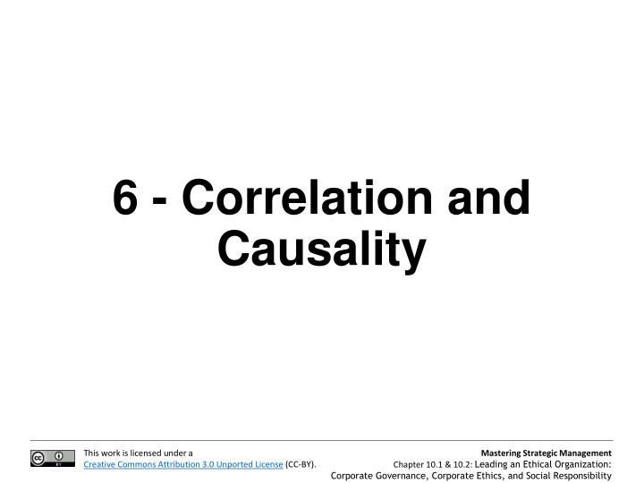 6 - Correlation and Causality