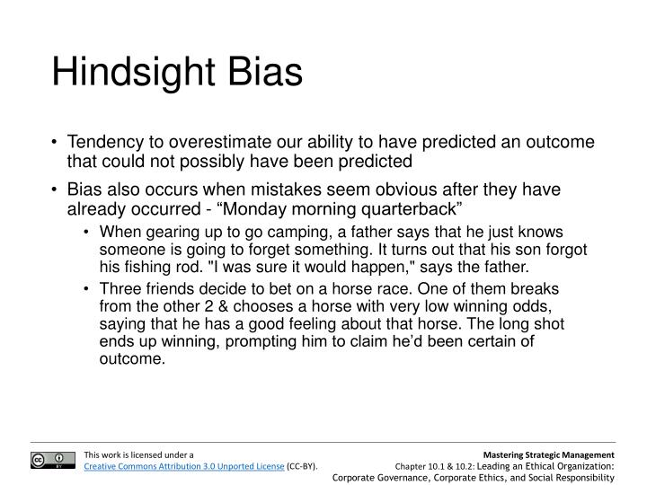Hindsight Bias