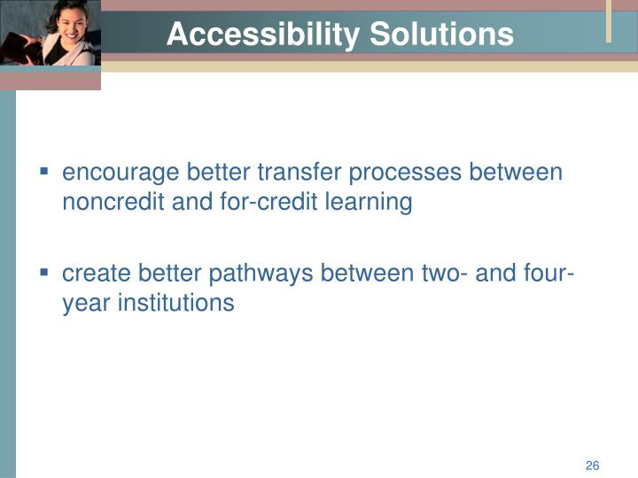 Accessibility Solutions