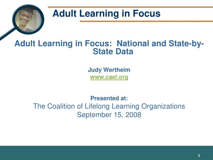 Adult learning in focus