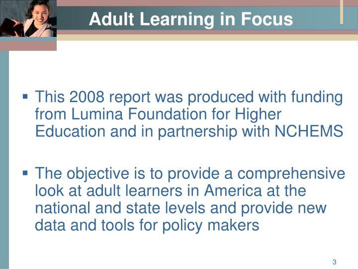 Adult learning in focus1