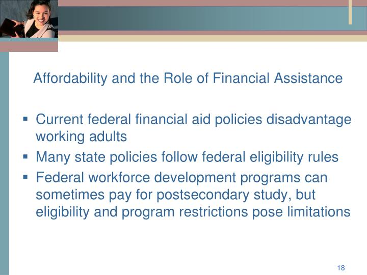 Affordability and the Role of Financial Assistance