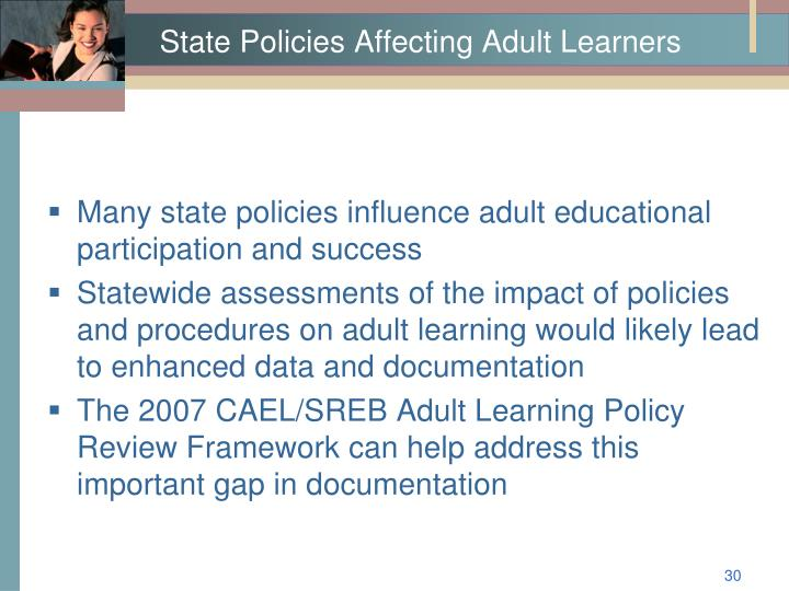 State Policies Affecting Adult Learners